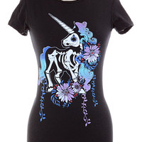 Sugar Skeleton Unicorn Tee