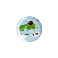 I Can Fly Turtle Pin