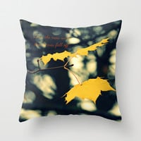 Love the Trees Until... Throw Pillow by RDelean
