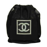 CHANEL Black & Grey Basketball & Mesh Bag 2004