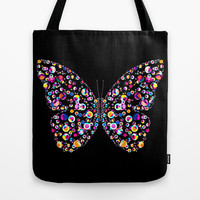 Butterfly Tote Bag by Ornaart