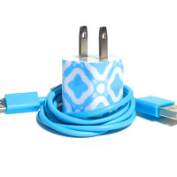 Custom iPhone Charger Decorated with Personality- Color USB Cable Included