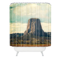 Catherine McDonald Devils Tower Shower Curtain