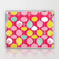 Snowflake Holiday Bobbles Laptop & iPad Skin by Heather Dutton