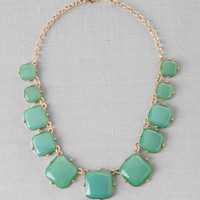MASON SQUARE JEWEL NECKLACE IN GREEN