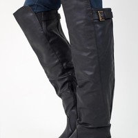 Black Over The Knee Riding Boot