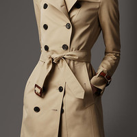 Long Slim Fit Trench Coat