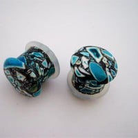 Mixed Turquoise Stone Plugs (8g - 1/2 inch)