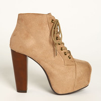 PLATFORM LACE UP BOOT