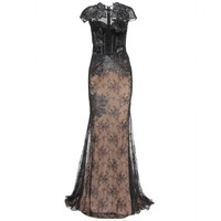 mytheresa.com - Floor-length embellished lace dress - Luxury Fashion for Women / Designer clothing, shoes, bags