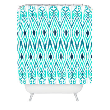 Amy Sia Ikat Jade Shower Curtain