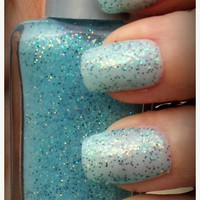 25% off Christmas Sale Nail Polish 25 Percent off Christmas Sale Winter Ice Glitter Nail Polish Indie Nail Polish Handmade Lacquer Custom