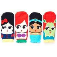 Cute Cartoon Character Sleeping Socks Princess Series (4 Pairs)