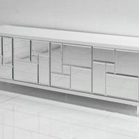 www.roomservicestore.com - Low Boy Mirrored Mondrian Credenza