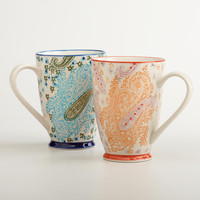 PAISLEY MUGS, SET OF 2