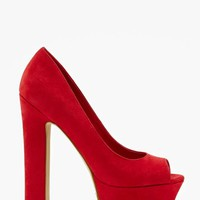 Shoe Cult Chemistry Platform Pump - Red