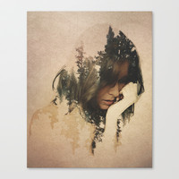 Lost In Thought Stretched Canvas by Davies Babies