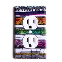 Southwestern Tribal Outlet Plate, wall decor