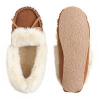 GIRLS' LODGE MOCCASINS