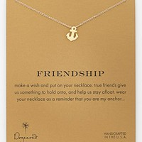 Dogeared 'Reminder - Friendship' Boxed Anchor Pendant Necklace