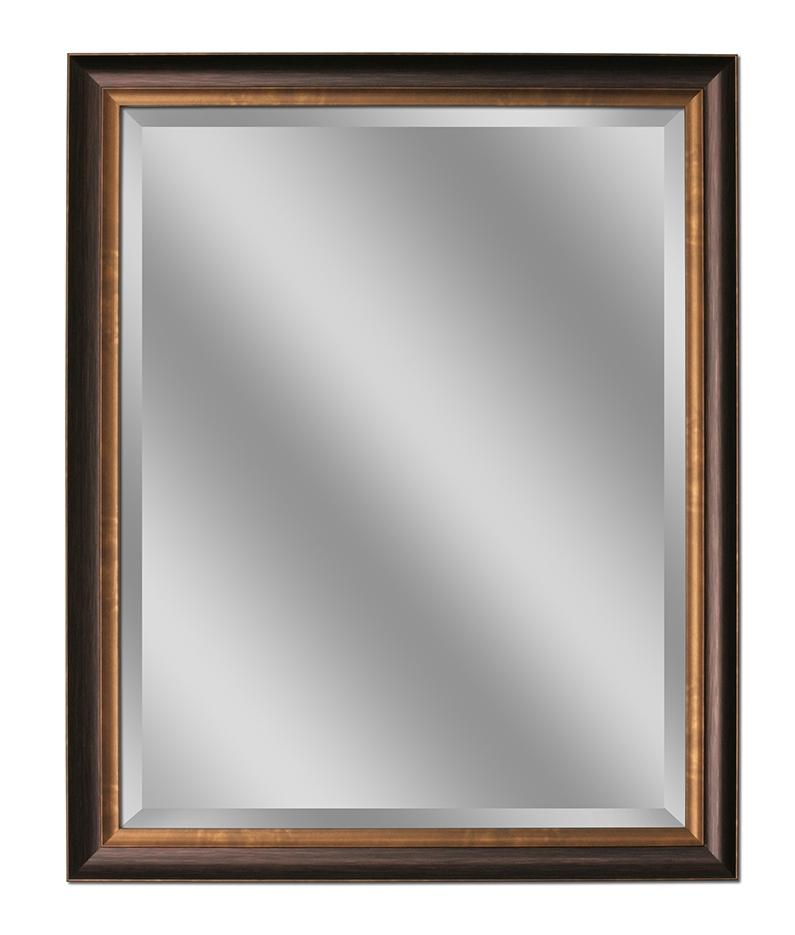 Oil Rubbed Bronze Wall Mirror 26x32 from illuminada