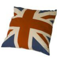 Aged Union Jack Printed Cushion