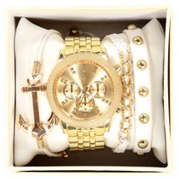 Gold/White Archer Watch Set