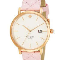 kate spade new york 'metro grand' quilted strap watch, 38mm | Nordstrom