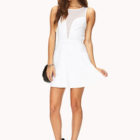 Mesh Darling Skater Dress
