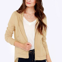 Others Follow Joplin Beige Hooded Sweater