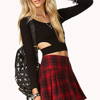 Edgy Plaid Skirt