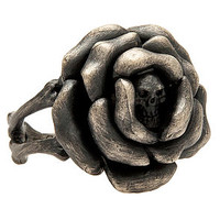 The Boney Rose Ring in Silver
