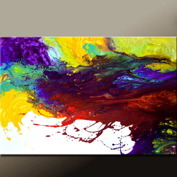 Abstract Canvas Art Painting 36x24 Original Modern Contemporary Paintings by Destiny Womack - dWo - Fading Dreams