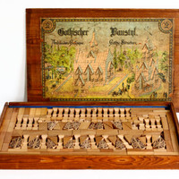 Antique Masonic Building Blocks Set