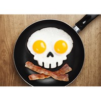Fred & Friends Funny Side Up Skull Egg Shaper