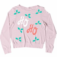 Wildfox Couture Ho Ho Baggy Beach Jumper in Rosy Cheeks