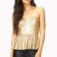 Showstopper Sequined Bustier