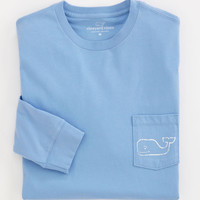 Vineyard Vines Whale Logo Long Sleeve Pocket Tee