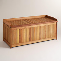 Wood Outdoor Storage Box - World Market