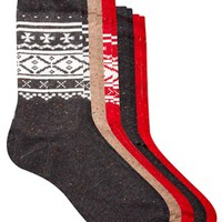 ASOS 5 Pack Socks With Fairisle