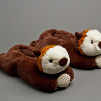 Otter Slippers | Animal Slippers | BunnySlippers.com