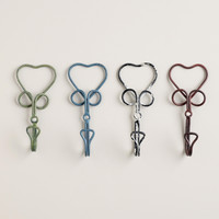 Wire Heart Hooks, Set of 4 - World Market