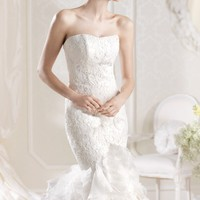 Mermaid Organza Gown by La Sposa