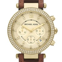 Michael Kors 'Parker' Chronograph Leather Watch, 39mm