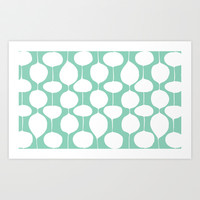 Holiday Bobbles - Festive Teal Art Print by Heather Dutton