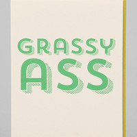 Grassy Thank You Card - Urban Outfitters