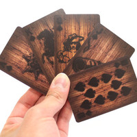 MollaSpace - Wood Deck of Cards