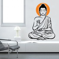 Zen Buddha Sticker - Moon Wall Stickers