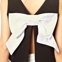 ASOS Top with Chunky Bow