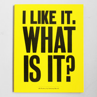 Lazy Oaf | I Like It. What is It? 30 Posters by Anthony Burrill